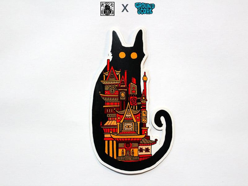 Image of KOOZ - Moon Cat Sticker (5 Pack Combo)