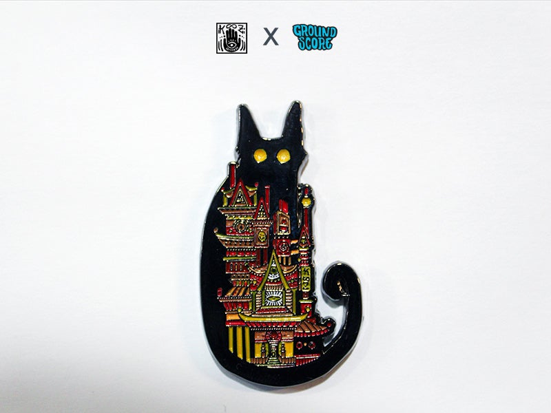 Image of KOOZ - Moon Cat Pin