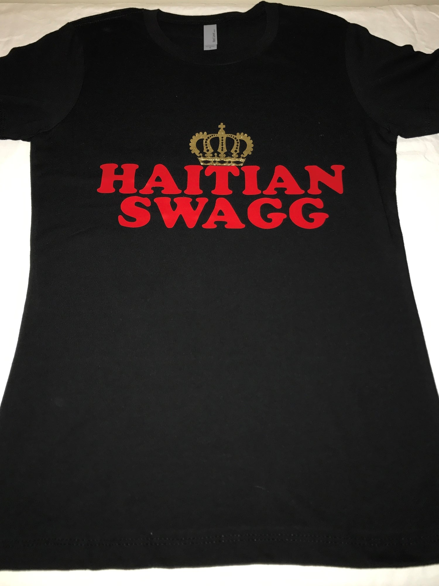 Image of Haitian Swagg Red & Gold V neck