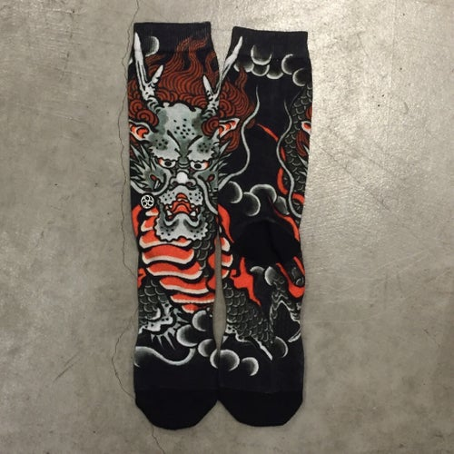 Image of IREZUMI SOCKS DRAGON BY ICHIBAY