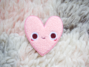 Image of Heart Pal Iron-On Embroidered Chenille Patch