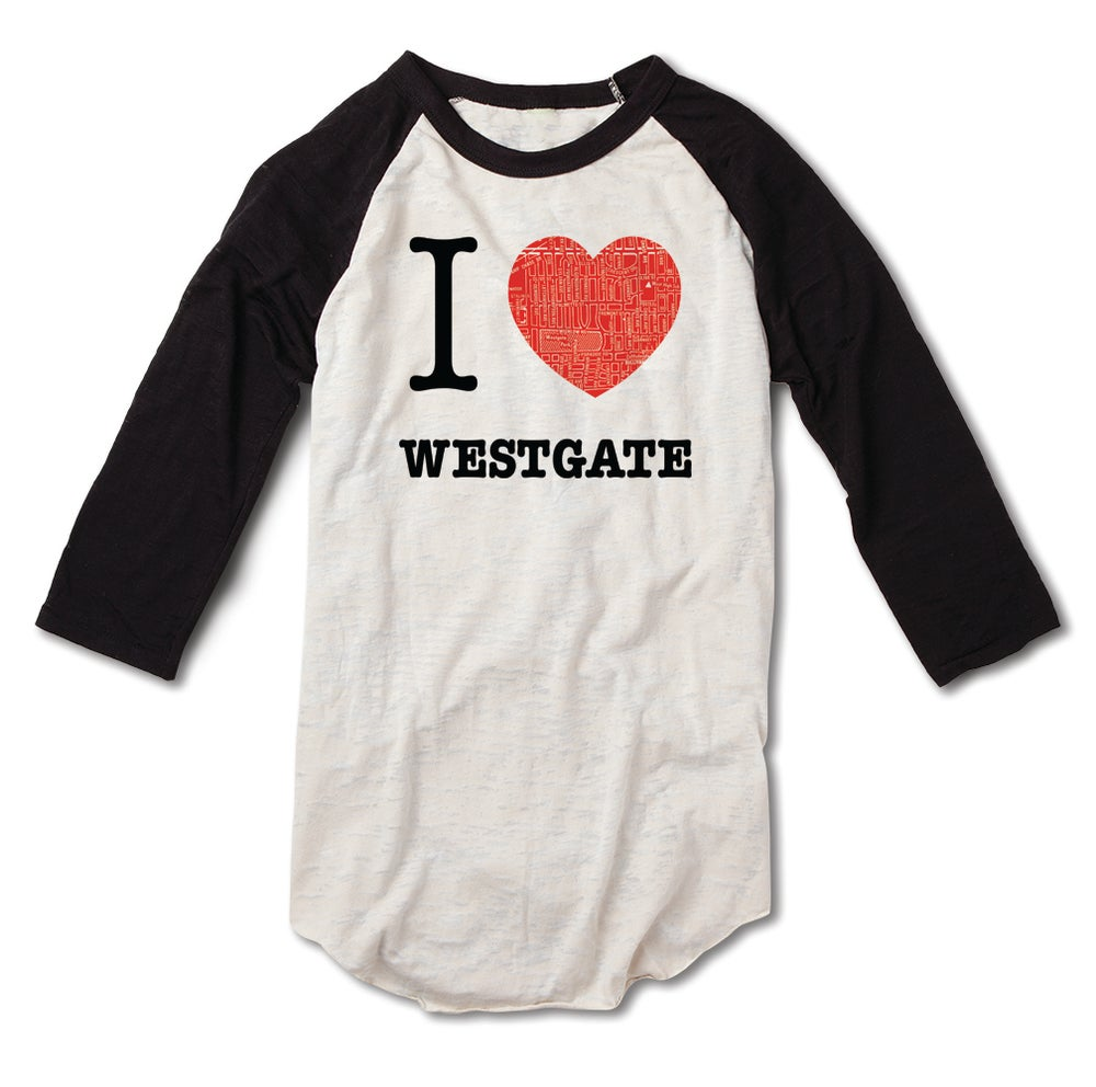 Image of I love Westgate baseball Tee