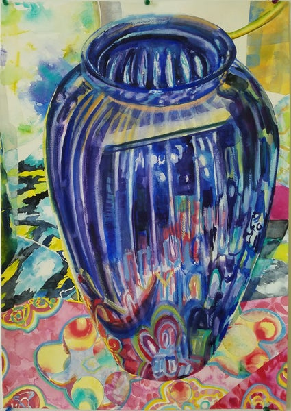 Image of Blue Vase #2