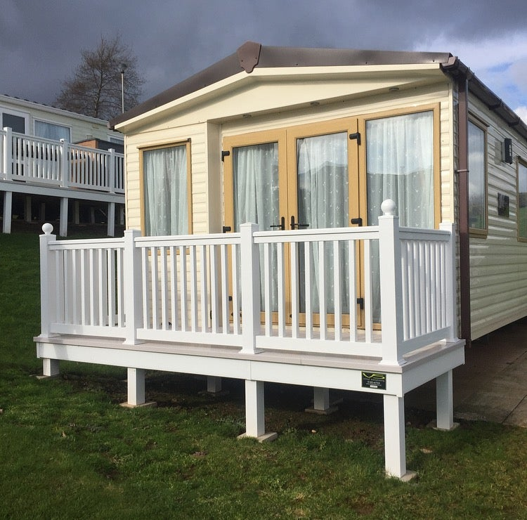 Image of 12x4ft Enclosed Front Decking - Vinyl Solutions