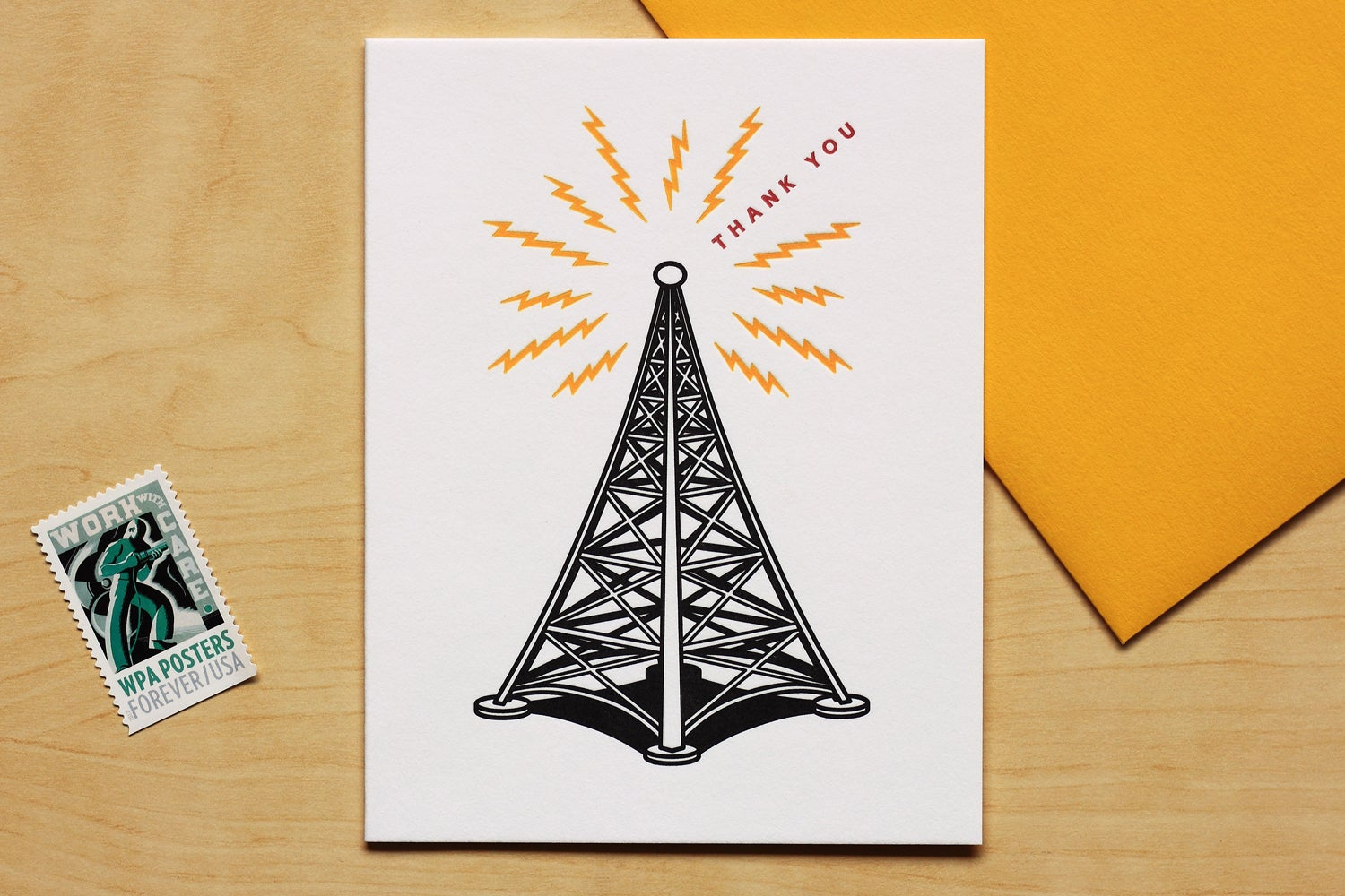"Image of RADIO TOWER ""THANK YOU"" Card"
