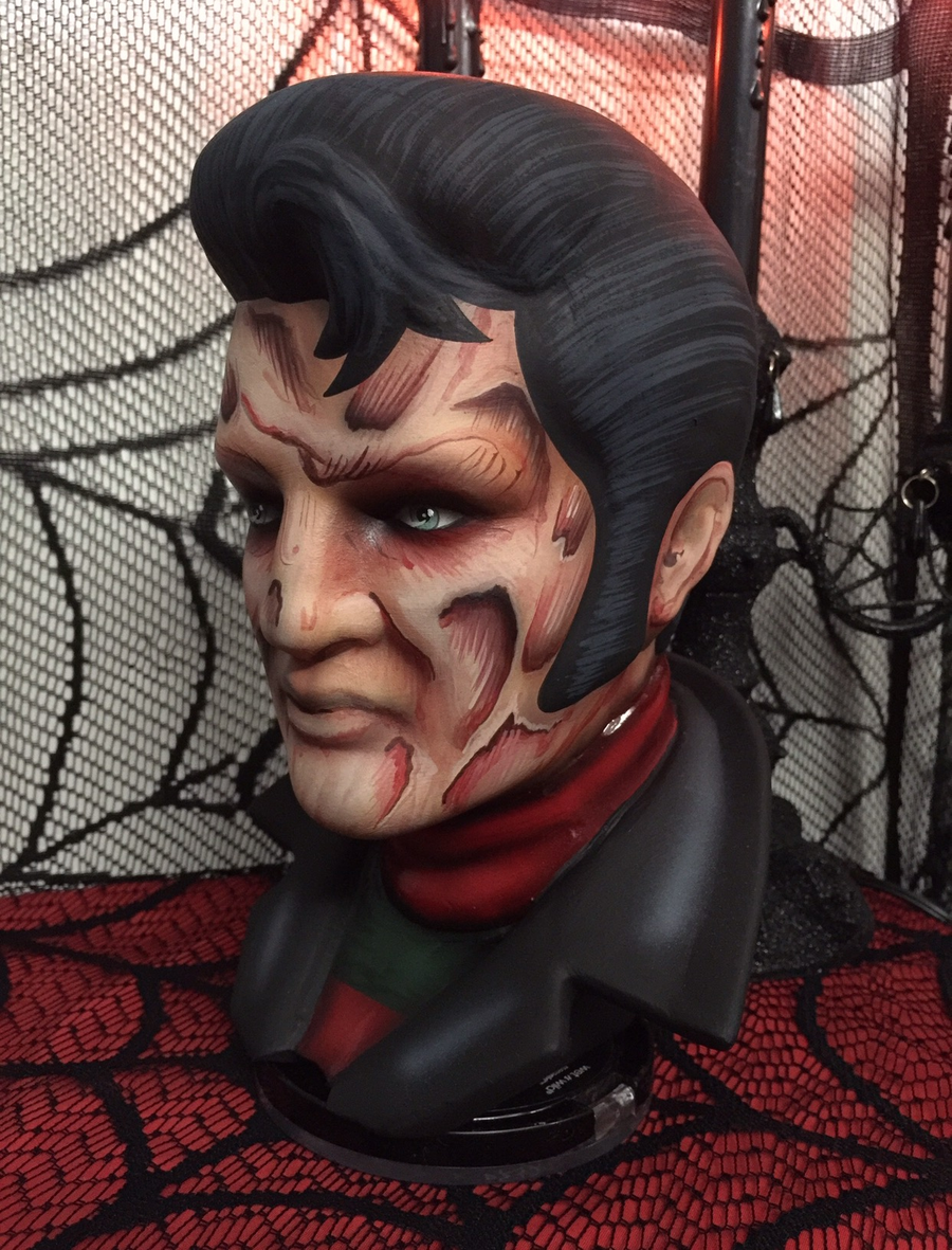 Image of Freddy Krueger Elvis Ceramic Bust