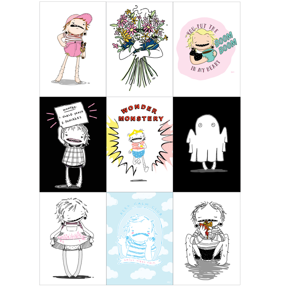 Image of Assorted Monstery Prints