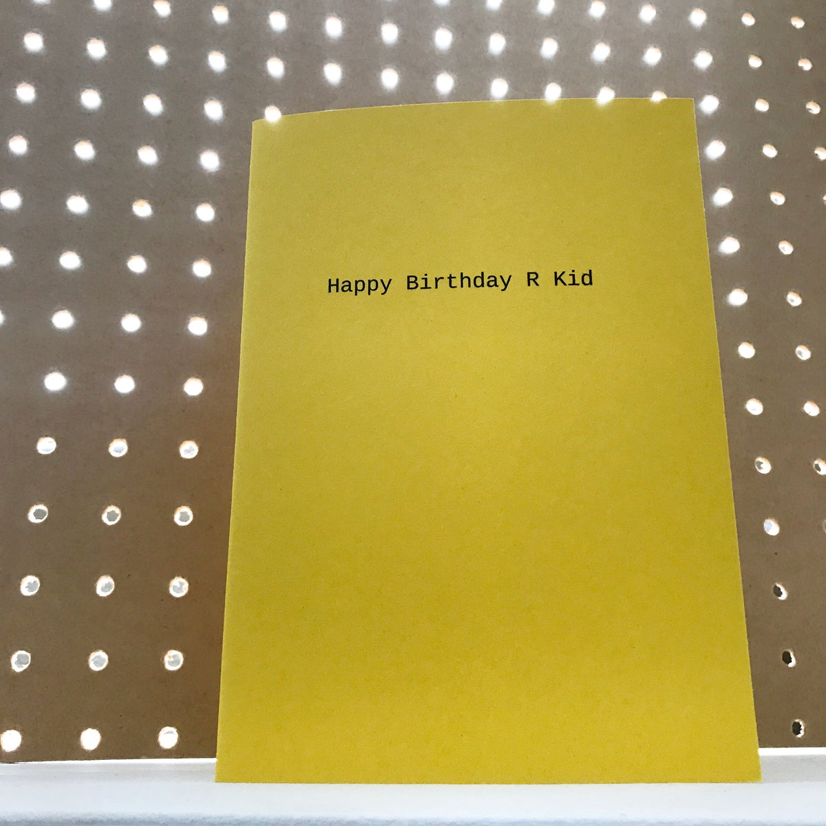 Image of Happy Birthday R Kid card