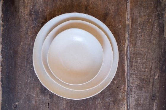 Image of Trio comida blanco roto