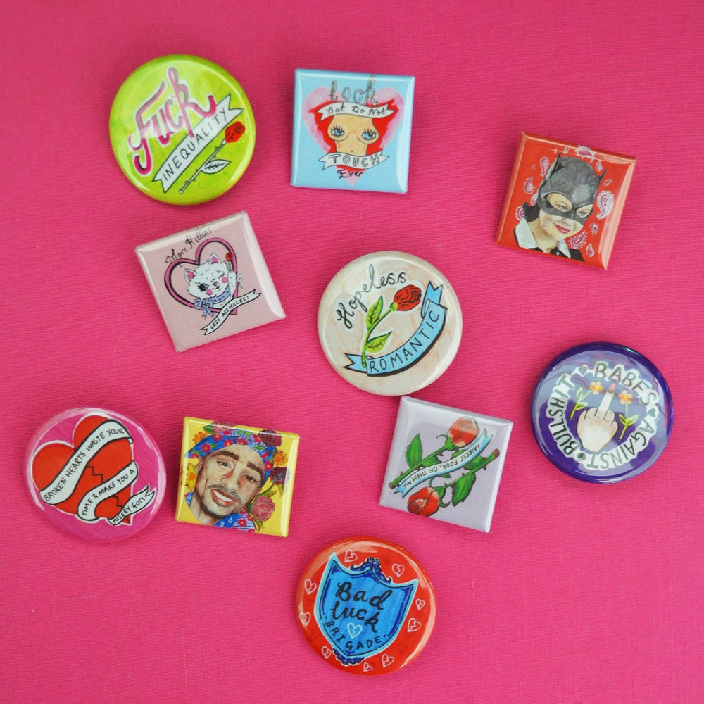 Image of LUCKY DIP - 5 BADGE SELECTION PACK!