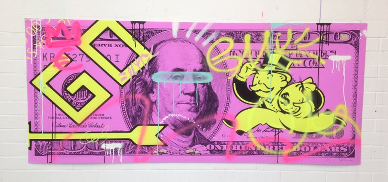 "Image of ""I GOT MY MIND ON MY MONEY"" (Purple)"