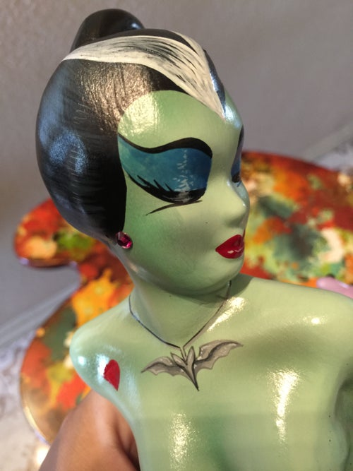 Image of Lily Munster Ceramic Mermaid