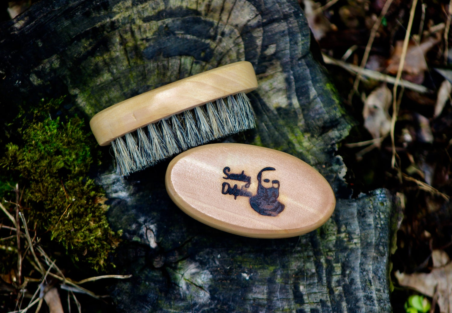 Image of Sunday Dolphin Beard Brush made with Boars Bristle