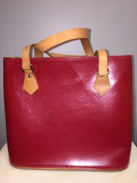 Image of VTG LOUIS VUITTON MONOGRAM VERNIS HOUSTON TOTE