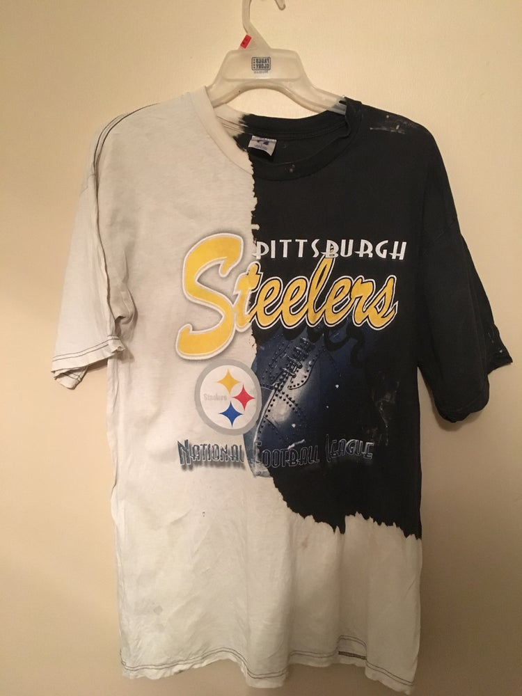 98391bf26 Image of Vintage Bleached Pittsburgh Steelers Shirt