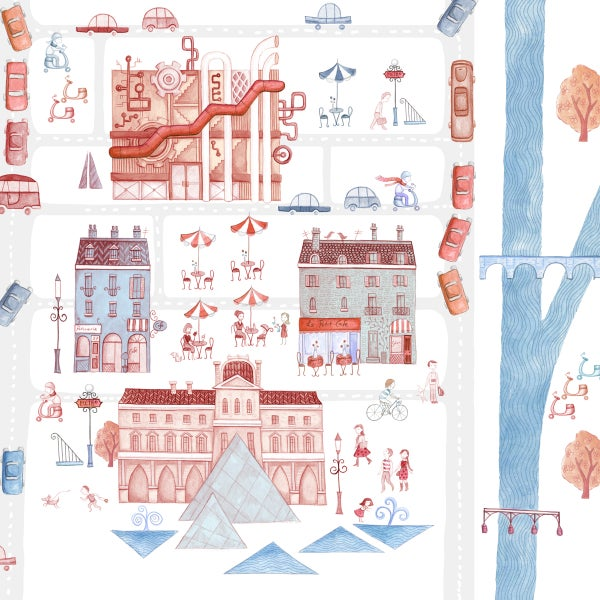 Image of Paris, giclee print