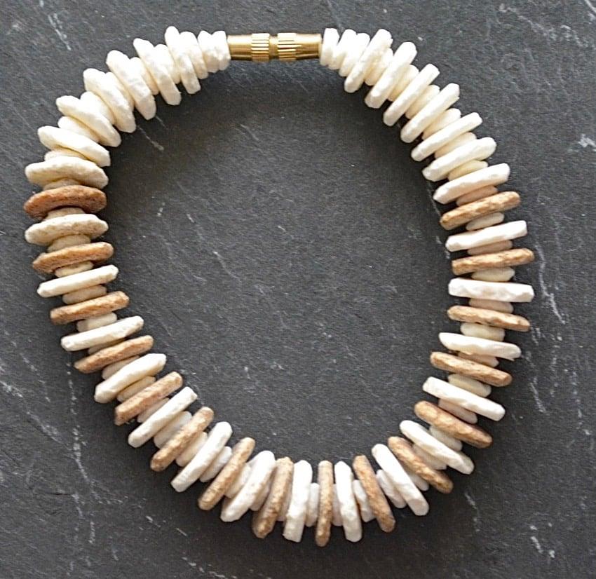 Image of Saba Ostrich Egg-Shell Bracelet