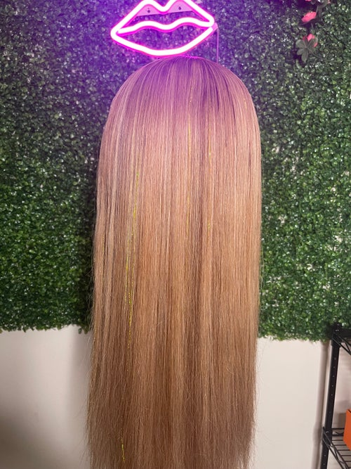 """Image of """"DISCO QUEEN"""" ASH BLONDE & GOLD HAND CRAFTED 13X4 LACE FRONT WIG"""
