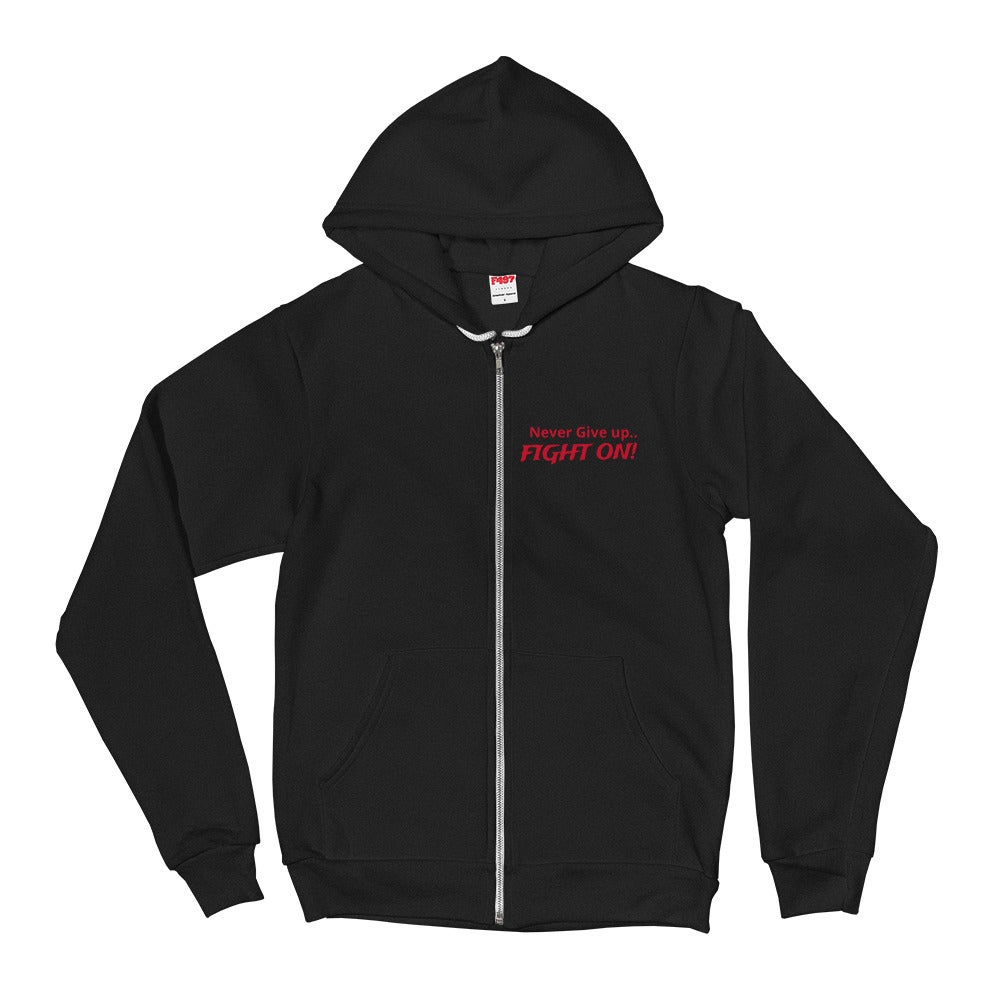 Never Give up Fight On!! Hiroshiartandmore Hoodie