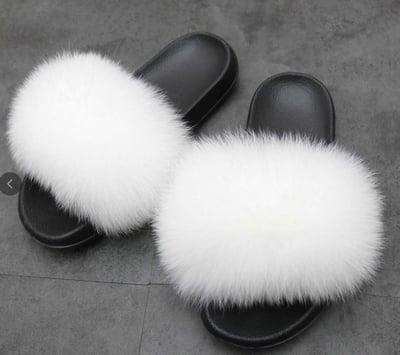 Image of Kids Glam Fur Slides