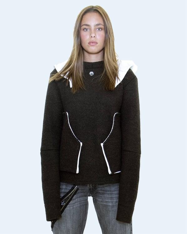 Image of Hybrid Knit Sweater