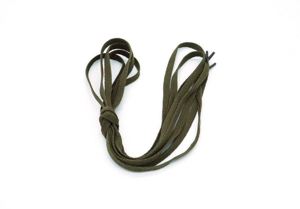 Image of Drab Green Flat Laces