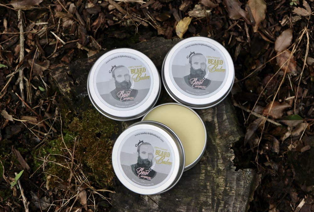 Image of Sunday Dolphin Beard Co. Beard Balm 100% Natural and Organic with vitamin E