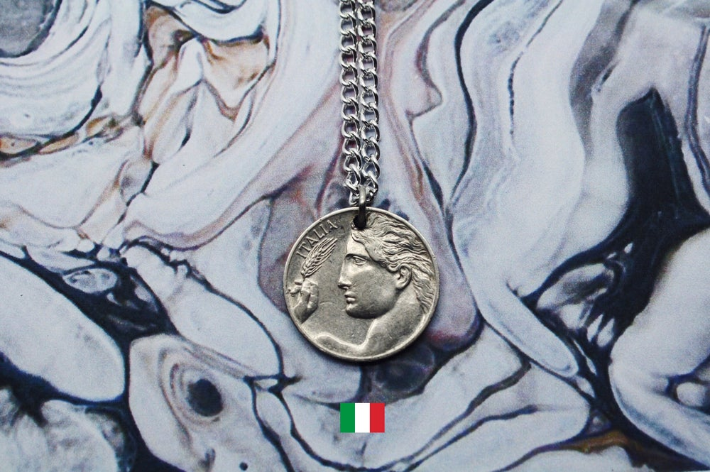 Image of Italian Silver 20 Centesimi Coin Necklace