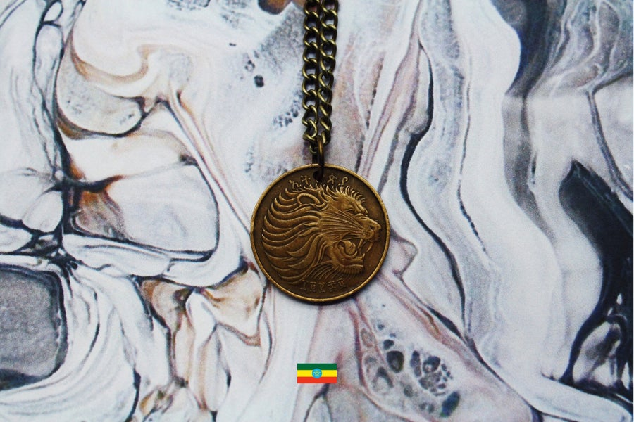 Image of Ethiopian Gold 10 Cent Coin Necklace