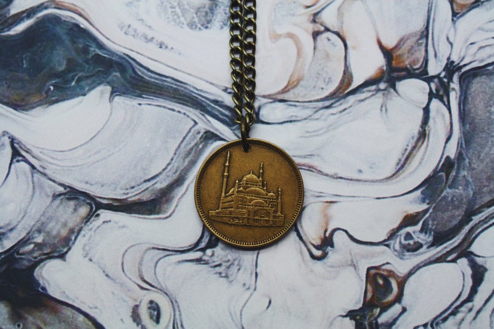 Image of Egyptian Gold 10 Piastre Coin Necklace