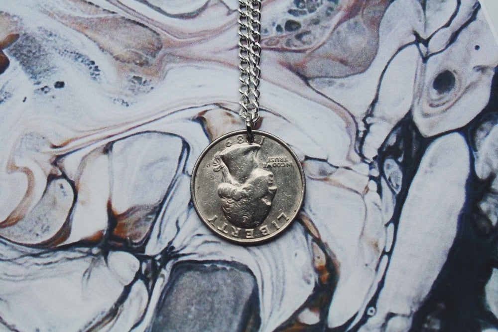 Image of American Silver 25 Cent Coin Necklace