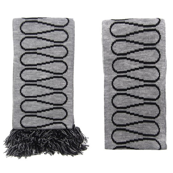 Image of Insulation Scarf: Original Black on Grey 154 cm x 17cm