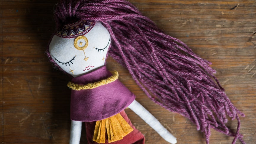 Image of Purple Solar Warrior Handmade Doll
