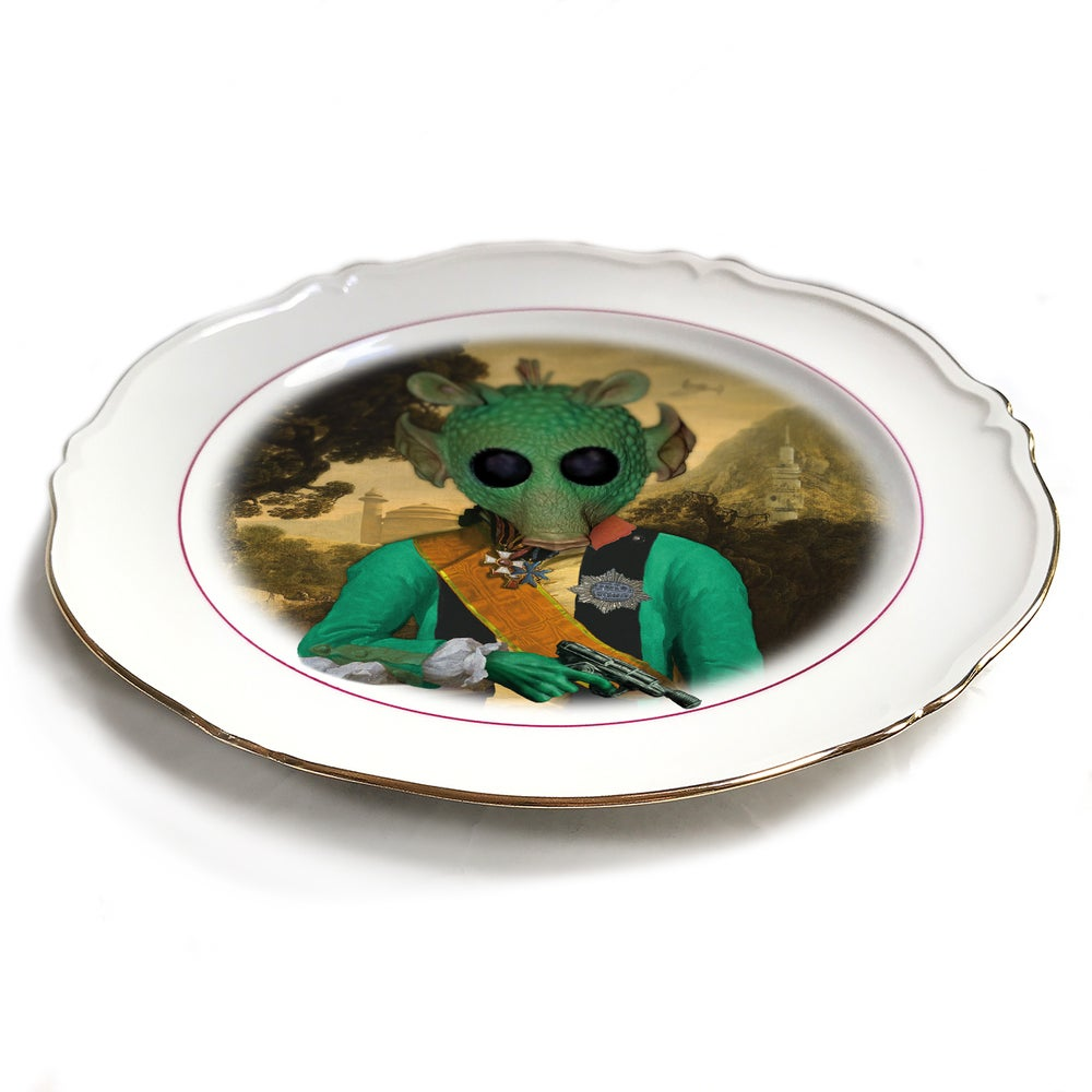 Image of Lord Greedo - Porcelain Plate - #0485