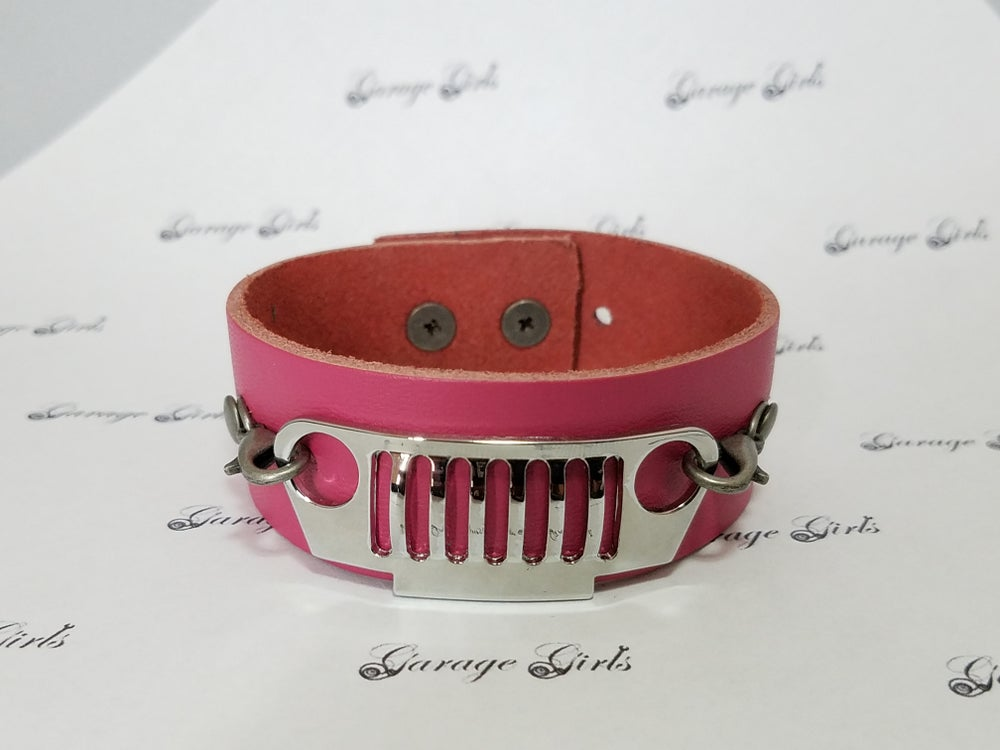 Image of Genuine Leather Jeep Grill Bracelets