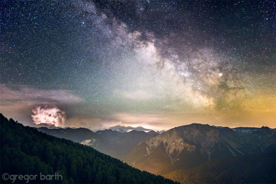 Image of Milky Way against Thundercloud