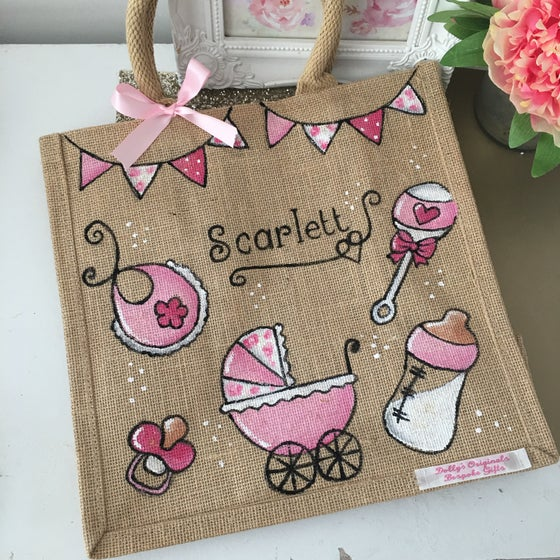 Image of Personalised Baby Jute Bag