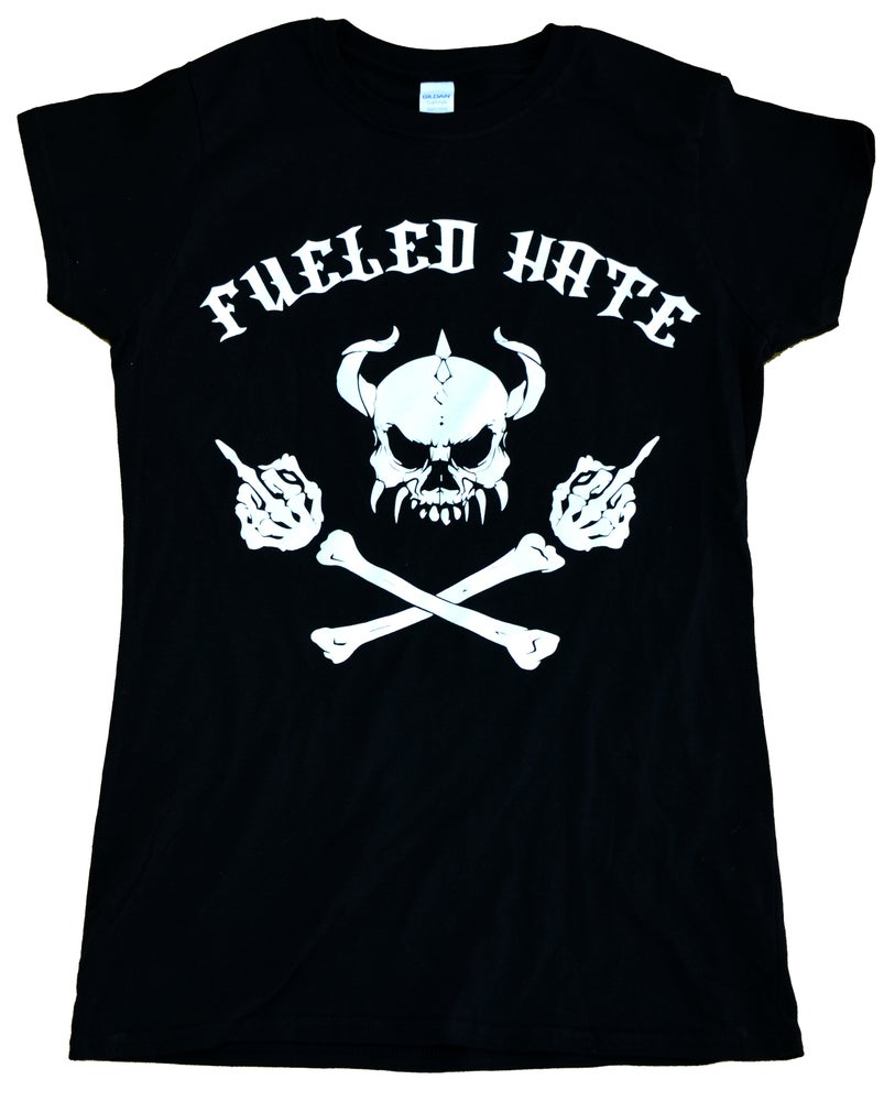Image of Fueled Hate Logo Skull T-Shirt Women