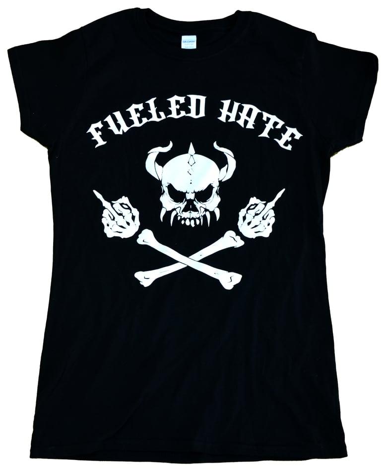 Image of Fueled Hate Logo Skull T-Shirt Women