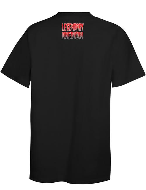 Image of Legendary American Knucklehead tee - red print