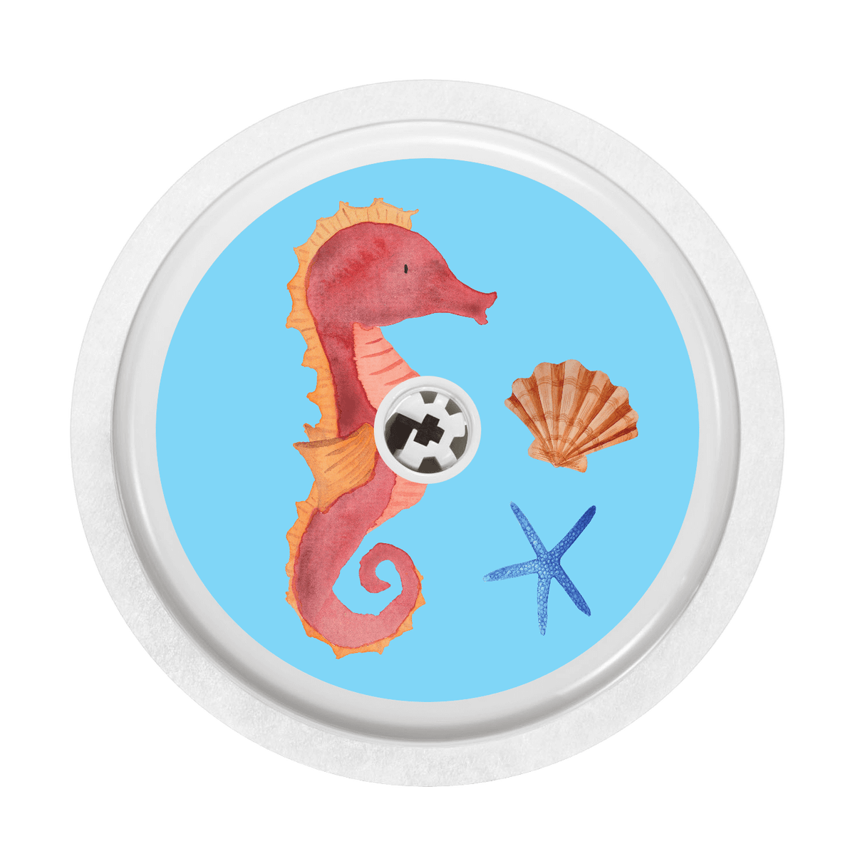 Image of Seahorse Freestyle Libre Sticker