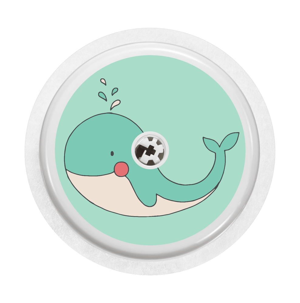 Image of Whale Freestyle Libre Sticker
