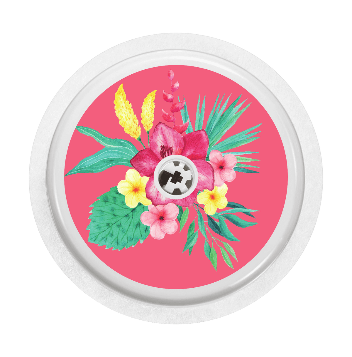 Image of Pink Flowers Freestyle Libre Sticker