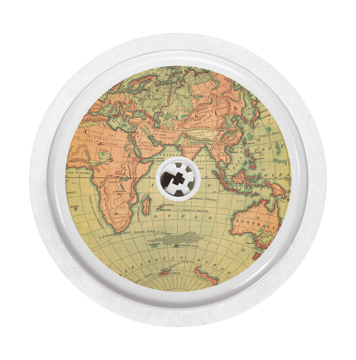 Image of Vintage Map Freestyle Libre Sticker
