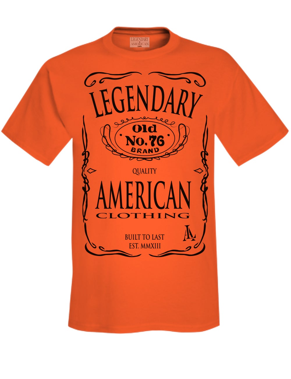 Image of Legendary American Old No. 76 tee in orange
