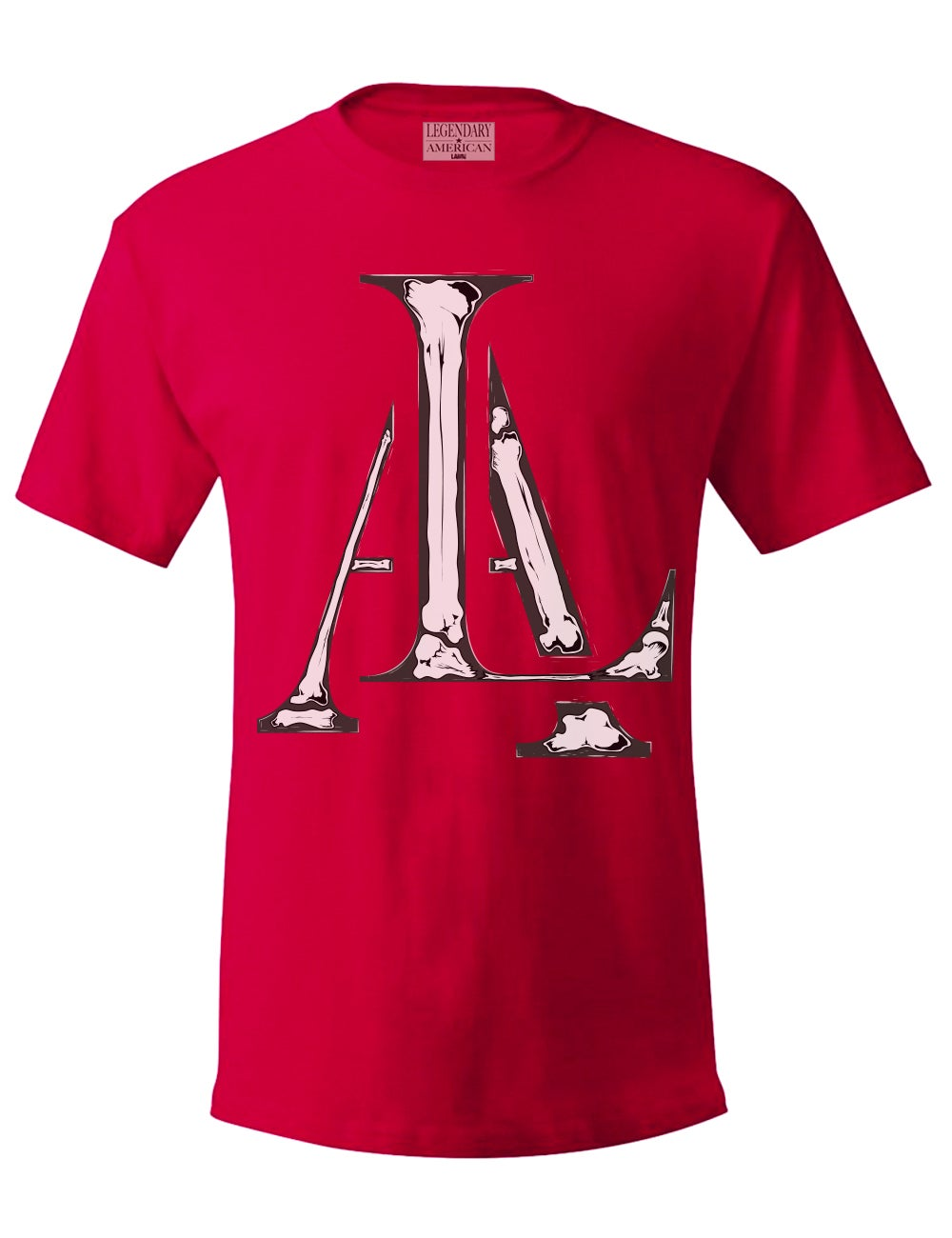 Image of Legendary American LA Bones tee in red