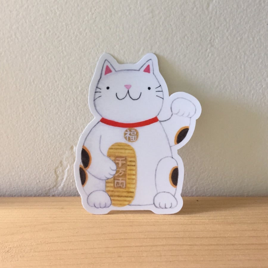 Image of lucky cat stickers