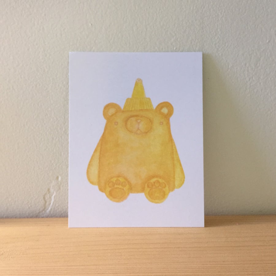 Image of honey bear postcards