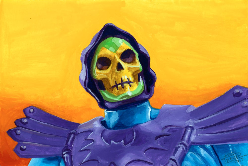 "Image of ""Skeletor"" - Original Painting by Jason Chalker"