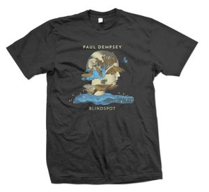 Image of Paul Dempsey- 'Blindspot Tour t-shirt' Black tee with colored print